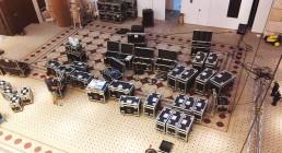 Inizio allestimento Great HallWestin Resort Costa Navarino