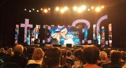 Ledwall installato sul palco del Teatro Il Rossetti di Trieste per la serata I Nostri Angeli 2017