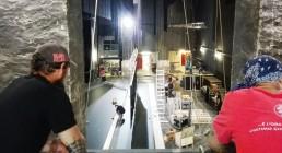 Montaggio video sul palco del Teatro Il Rossetti di Trieste
