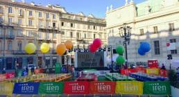 Prove tecniche B-Happy pre evento in Piazza Carlo Alberto a Torino
