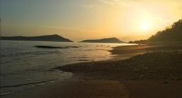 Tramonto spiaggia Grecia