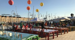 Ospiti divisi per squadre colorate a Genova per Iren Energy Dinner