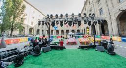Palazzo della Pilotta allestito per Iren Energy DInner a Parma