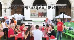 Piazza dei Cavalli allestita per il terzo appuntamento di Iren Energy Dinner