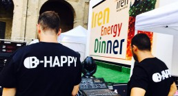 Team audio B-Happy per Iren Energy Dinner a Parma