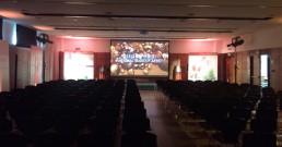 Sala riunioni dell'Hotel NH Torino Santo Stefano allestita per tour Clarins
