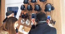 App music wall sviluppata da B-happy per Experience Huawei Store di Milano