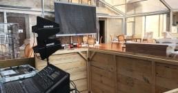 Setup audio nella sala del Monastero di Astino per Astino nel Gusto