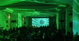 Proiezione immersiva B-Happy nella Sala Michelangelo del Rome Cavalieri, Waldorf Astoria Hotels & Resorts a Roma