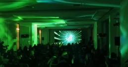 Proiezione immersiva B-Happy nella Sala Michelangelo del Rome Cavalieri, Waldorf Astoria Hotels & Resorts