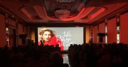 Proiezione immersiva con ledwall B-Happy nella Sala cristalli dell'Hotel Principe di Savoia a Milano