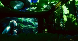 Proiezione immersiva e ledwall B-Happy nella Sala cristalli dell'Hotel Principe di Savoia a Milano