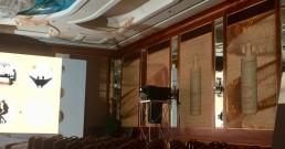 Prove proiezione immersiva nella Sala cristalli dell'Hotel Principe di Savoia a Milano