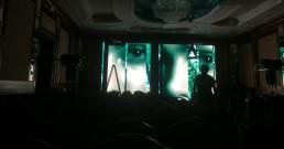 Test ledwall B-Happy nella Sala cristalli dell'Hotel Principe di Savoia a Milano