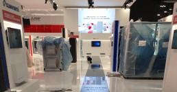 Montaggio ledwall e monitor per Stand Mitsubishi_Mostra Convegno Expocomfort 2018