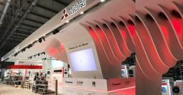 Montaggio tecnologia B-Happy per Stand Mitsubishi Electric_MCE 2018_Milano