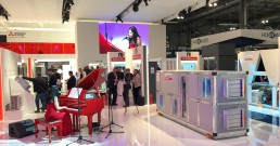 Performance live con audio e video B-Happy nello Stand Mitsubishi_MCE 2018