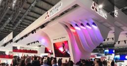 Stand Mitsubishi Electric con installazioni B-Happy_MCE 2018