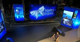 I ledwall B-Happy sul palco del Teatro Politeama Rossetti di Trieste per la serata I Nostri Angeli 2018