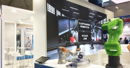 Ledwall B-Happy per SIR Robotics ad Achema 2018