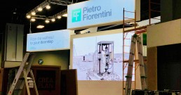 Montaggio ledwall B-Happy per Pietro Fiorentini a World Gas Conference 2018