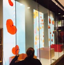 Testing ledwall nello store Sunglass Hut a New York