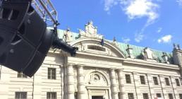 Impianto Clair Brothers montato in Piazza CArlo Alberto a Torino