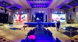 Installazione 2 ledwaal nella Great Hall del Westin Resort Costa Navarino Grecia