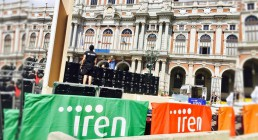 Montaggio ledwall B-Happy a Torino