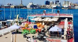 Montaggio B-Happy sulla Tolda della Nave Blu dell'Acquario di Genova - Iren Energy Dinner