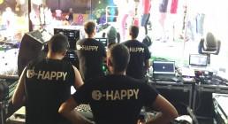 Regia B-Happy a lato del palco di Iren Energy Dinner Parma