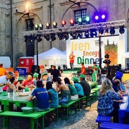 Serata Iren Energy Dinner nella piazzetta del Palazzo della Pilotta a Parma