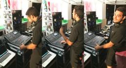Tecnico audio B-Happy al mixer MIDAS - Iren Energy Dinner a Genova