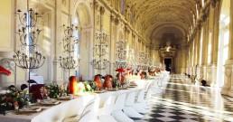 Galleria Grande allestita B-Happy alla Reggia di Venaria