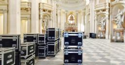 Preparativi per l'allesitimento B-Happy nella Cappella di Sant'Uberto - Reggia di Venaria