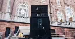 Setup impianto audio nella Terrazza della Regina - Reggia di Venaria Torino