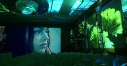 Ledwall e proiezione immersiva B-Happy nella Sala cristalli dell'Hotel Principe di Savoia a Milano