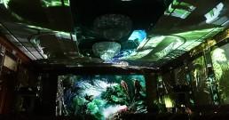 Poiezione immersiva pre evento nella Sala cristalli dell'Hotel Principe di Savoia a Milano_B-Happy