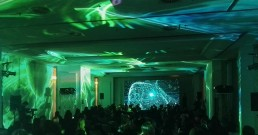 Proiezione immersiva con proiettori Barco nella Sala Michelangelo del Rome Cavalieri, Waldorf Astoria Hotels & Resorts