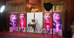 Sala truccatore allestita all'interno dell'Hotel Principe di Savoia a Milano
