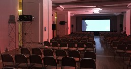Test ledwall B-Happy e proiettori Barco nella Sala Michelangelo del Rome Cavalieri, Waldorf Astoria Hotels & Resorts