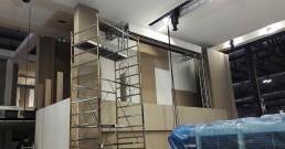 Montaggio ledwall B-Happy per Stand Mitsubishi Electric_MCE 2018 Milano