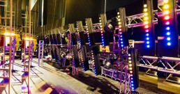 Montaggio luci DTS Lighting sul palco del Teatro Politeama Rossetti di Trieste_I Nostri Angeli 2018