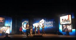 Test ledwall B-Happy sul palco del Teatro Politeama Rossetti di Trieste per la serata I Nostri Angeli 2018